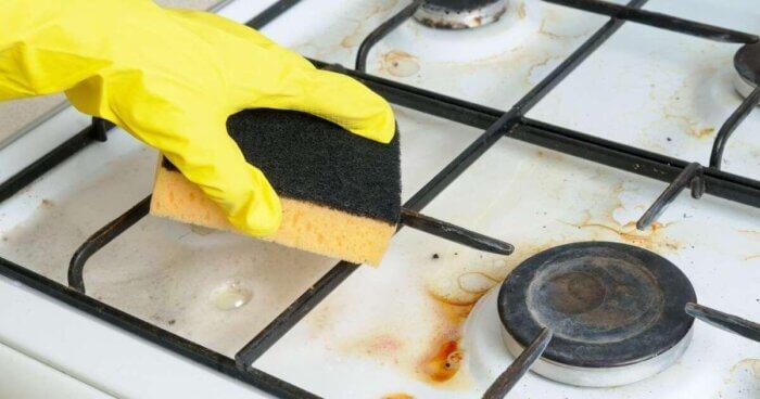 как чистить решетку плиты